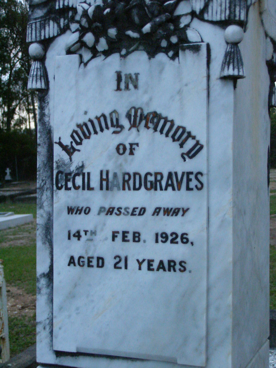 Lower Coomera Gold Coast Memorial Inscriptions